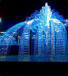 Светодиодные фонтаны, светодинамические конструкции